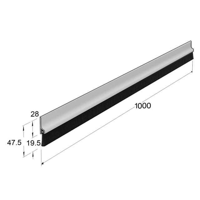ADHESIVE EXTERNAL WINDBREAK PLASTIC PANEL, WHITE 100